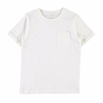 NAME IT Basis T-shirt Med Lomme Hvid