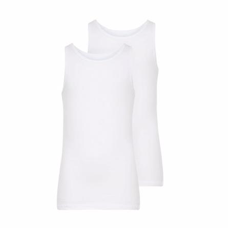 NAME IT 2-Pak Basis Undertrøjer Hvid - Tøjstørrelser: 134