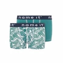 NAME IT 2-Pak Basis Boxers Jungle Grøn