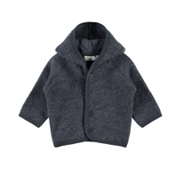 NAME IT Merinould Hætte Cardigan Ombre Blue