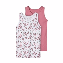NAME IT 2-Pak Basis Tanktop Heather Rose