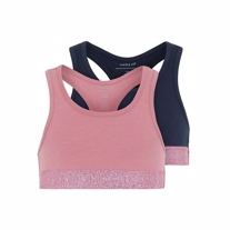 NAME IT 2-Pak Basis Glimmer Top Heather Rose