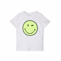 NAME IT Smiley Tee Happy White