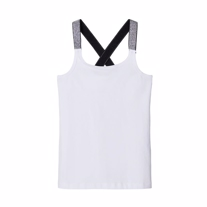 NAME IT Glimmer Strop Tanktop Vals Hvid