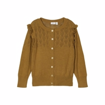 NAME IT Strikket Cardigan Fonamin Bronze