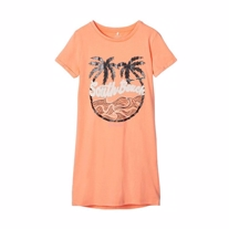 NAME IT T-shirt Kjole South Beach Cantaloupe