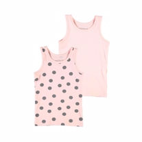 NAME IT 2-Pak Basis Tanktop Strawberry Cream