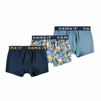NAME IT 3-Pak Basis Boksershorts Blue Mix