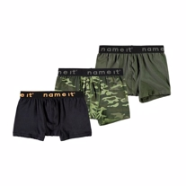 NAME IT 3-Pak Basis Boksershorts Green Camo