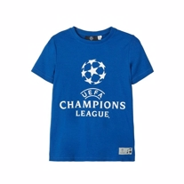 NAME IT UEFA Champions League Tee Blå