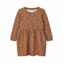 NAME IT Sweat Kjole Flower Bronze
