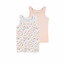 NAME IT 2-Pak Basis Tanktop Peach Whip Dots
