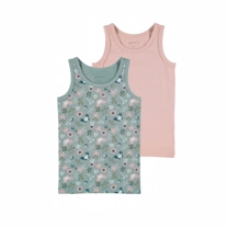 NAME IT 2-Pak Basis Tanktop Pale Mauve Flower
