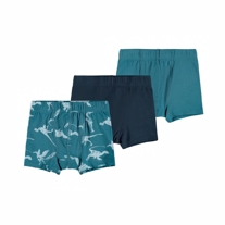 NAME IT 3-Pak Basis Tights Real Teal Dino