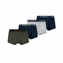 NAME IT 4-Pak Basis Boksershorts Forest Night Mix