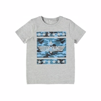 NAME IT Top Gun Tee Grey Melange