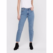 ONLY Emily High Waist Cropped Straight Fit Mom Jeans