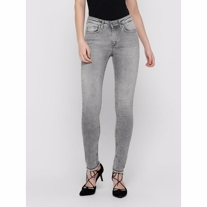 ONLY Blush Mid Waist Skinny Fit Ankel Jeans Grey