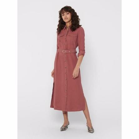 Billede af ONLY Lang Skjortekjole Bella-Aris Apple - Tøjstørrelser: L