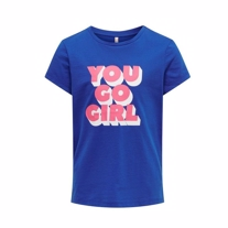 ONLY KIDS You Go Girl Tee Anetta Blue