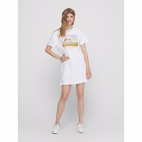 ONLY T-shirt Kjole Freya White