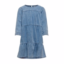 ONLY KIDS Løstsiddende Denim Kjole Abigale Blue