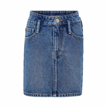 ONLY KIDS Højtaljet Denim Nederdel Sway Blue