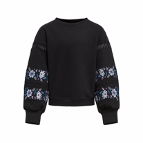 ONLY KIDS Broderet Sweatshirt Lisa Black