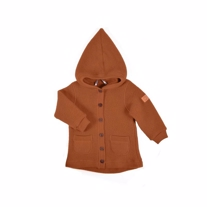 MIKK-LINE Merinould Cardigan Leather Brown