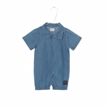 MINIATURE Denim Romper Blue Horizon