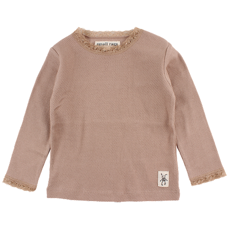 SMALL RAGS Bluse Med Blondekant