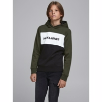 JACK & JONES Sweat Hoodie Logo Forrest Night