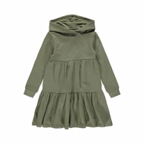 NAME IT Sweat Kjole Danita Deep Green