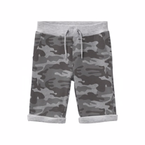 NAME IT Camo Sweat Shorts Grey Army
