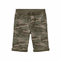 NAME IT Camo Sweat Shorts Green Army