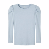 NAME IT Pufærme Bluse Tatinka Dusty Blue