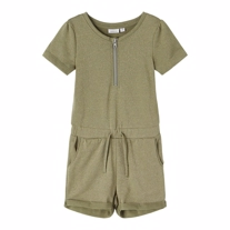 NAME IT Glimmer Playsuit Filla Deep Lichen Green