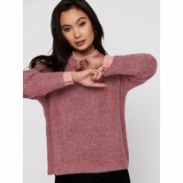 ONLY Strikket Pullover Zoey Red Ochre