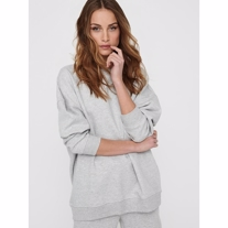 ONLY Oversized Sweatshirt Fave Light Grey