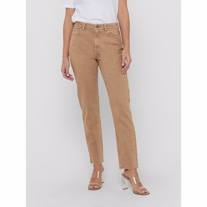 ONLY Emily High Waist Regular Fit Jeans Toasted Coconut