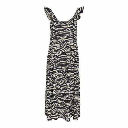 ONLY Lang Strop Kjole Allie Zebra Mining
