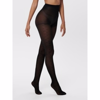 ONLY Tights May Herringbone Black