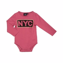 Petit By Sofie Schnoor Langærmet NYC Body Gold & Cherry