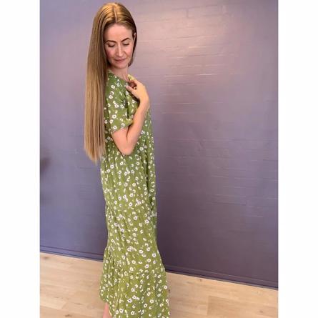 ONLY Lang Kjole Victoria Olive Green