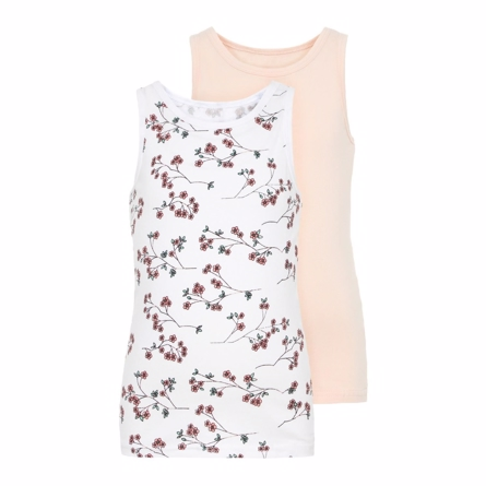 NAME IT 2-Pak Basis Tanktop Blomster